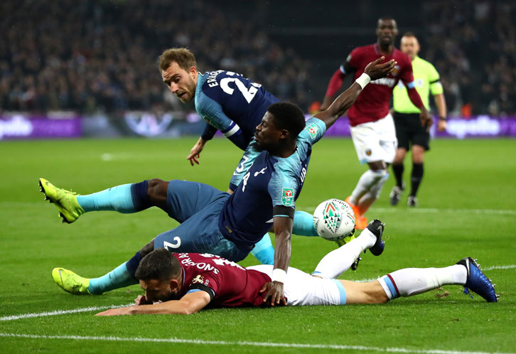 West Ham United 1-3 Tottenham Hotspur.
